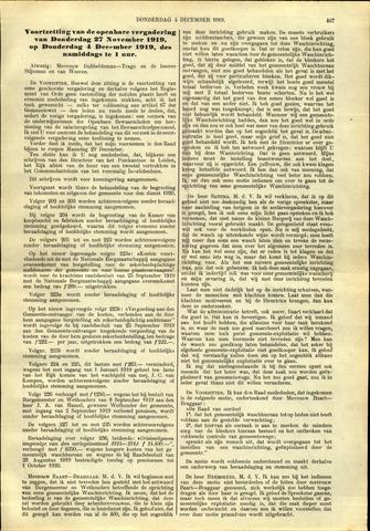 Handelingen van de Raad 1919-12-04