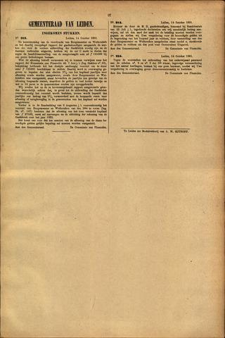 Handelingen van de Raad 1881-10-14