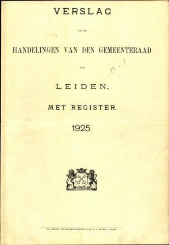 Handelingen van de Raad 1925-01-01