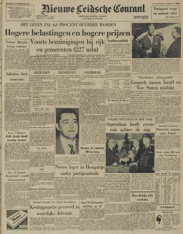 Nieuwe Leidsche Courant 1957-02-18