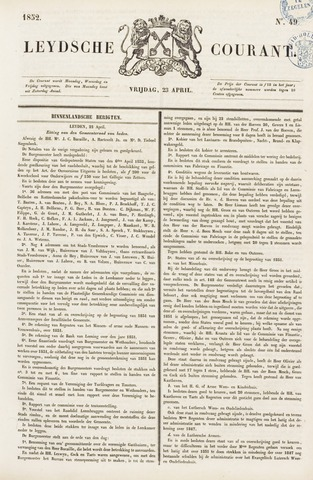 Leydse Courant 1852-04-23
