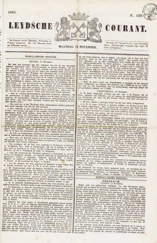 Leydse Courant 1865-11-13