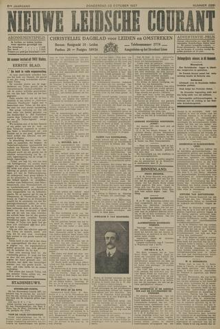 Nieuwe Leidsche Courant 1927-10-20