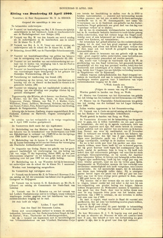 Handelingen van de Raad 1909-04-15