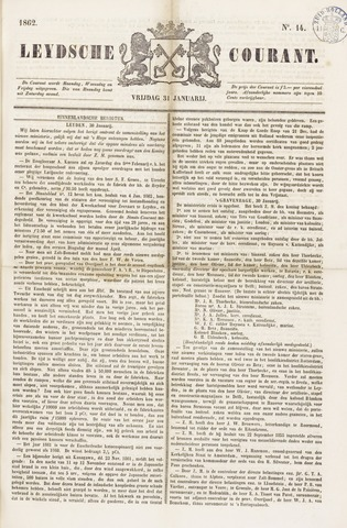 Leydse Courant 1862-01-31
