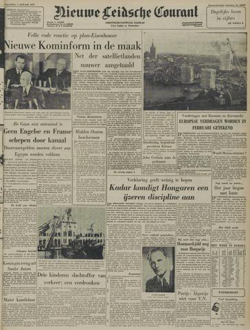 Nieuwe Leidsche Courant 1957-01-07