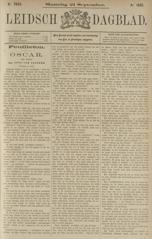 Leidsch Dagblad 1885-09-21