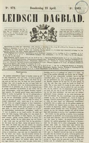 Leidsch Dagblad 1863-04-23