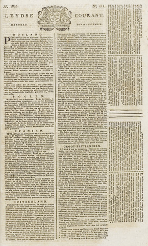 Leydse Courant 1822-09-16