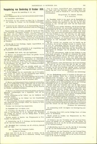 Handelingen van de Raad 1938-10-13