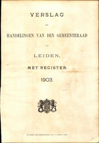 Handelingen van de Raad 1903-01-01