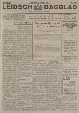Leidsch Dagblad 1938-10-10