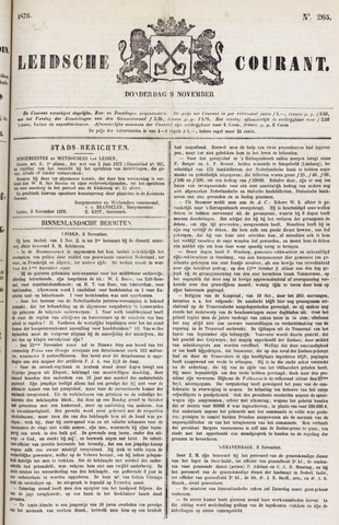 Leydse Courant 1876-11-09