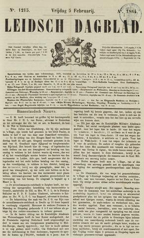 Leidsch Dagblad 1864-02-05