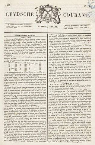 Leydse Courant 1855-03-05