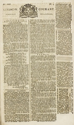 Leydse Courant 1826-01-04