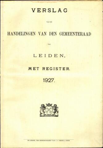 Handelingen van de Raad 1927-01-01