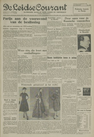 Leidse Courant 1954-08-27