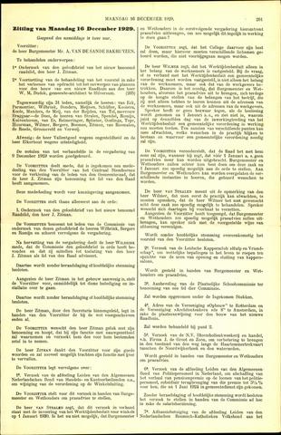 Handelingen van de Raad 1929-12-16
