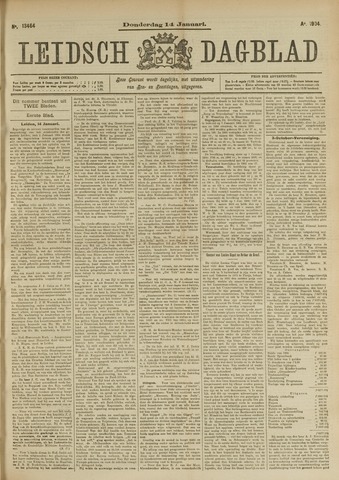 Leidsch Dagblad 1904-01-14