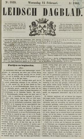 Leidsch Dagblad 1866-02-14