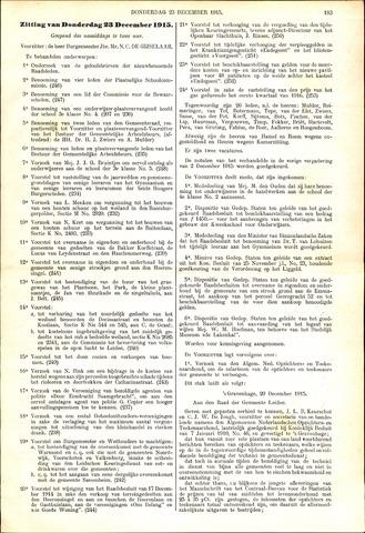Handelingen van de Raad 1915-12-23