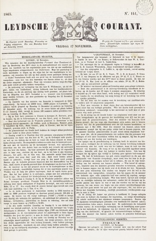 Leydse Courant 1865-11-17