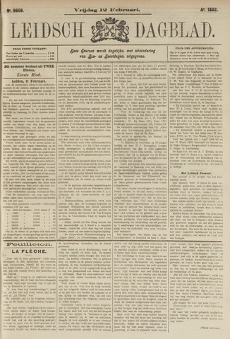 Leidsch Dagblad 1892-02-12
