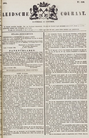Leydse Courant 1884-10-11