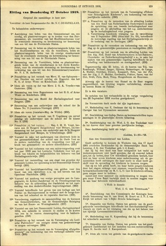 Handelingen van de Raad 1918-10-17