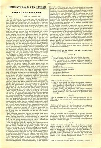 Handelingen van de Raad 1914-12-11