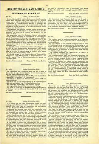 Handelingen van de Raad 1930-10-10