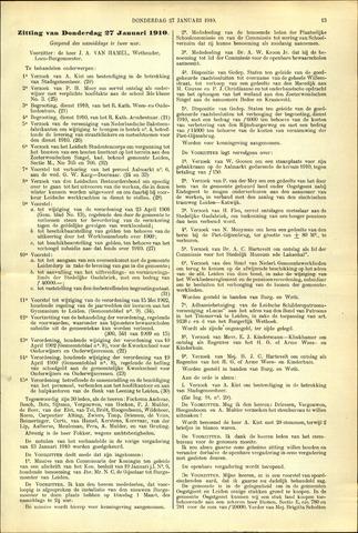 Handelingen van de Raad 1910-01-27