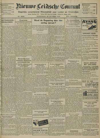 Nieuwe Leidsche Courant 1939-10-26