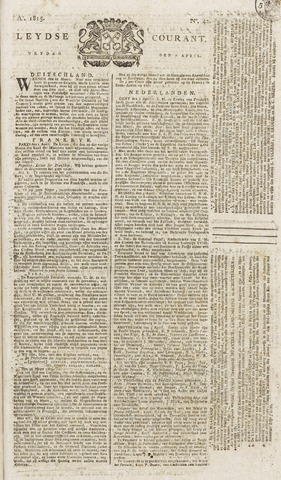 Leydse Courant 1815-04-07