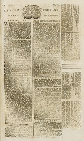 Leydse Courant 1819-08-20