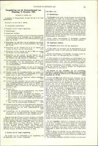 Handelingen van de Raad 1947-10-13