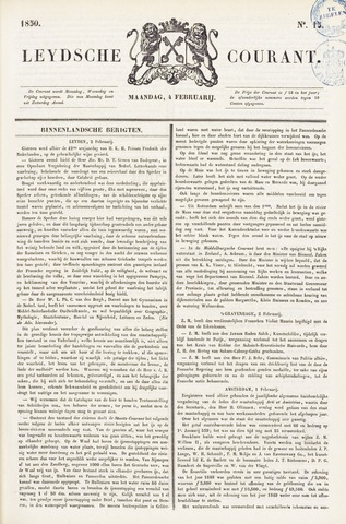 Leydse Courant 1850-02-04