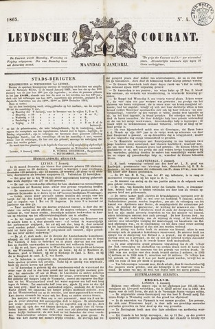 Leydse Courant 1865-01-09