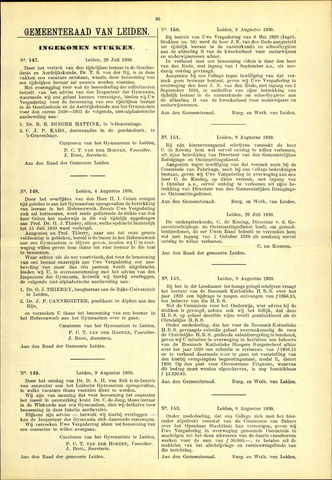 Handelingen van de Raad 1930-07-28
