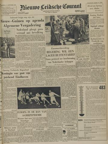 Nieuwe Leidsche Courant 1957-09-19