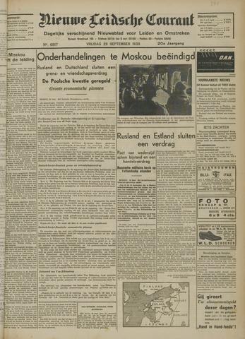 Nieuwe Leidsche Courant 1939-09-29