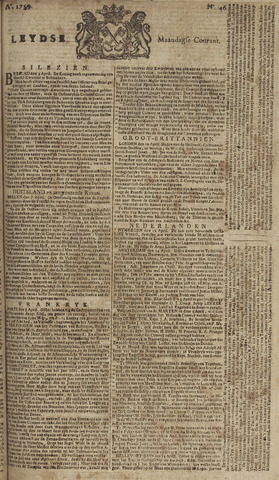 Leydse Courant 1759-04-16