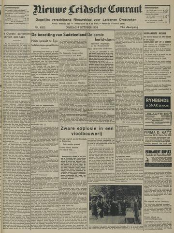 Nieuwe Leidsche Courant 1938-10-04