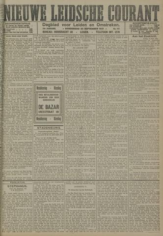 Nieuwe Leidsche Courant 1921-09-22