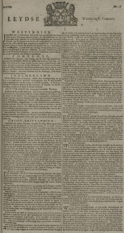 Leydse Courant 1729-02-09