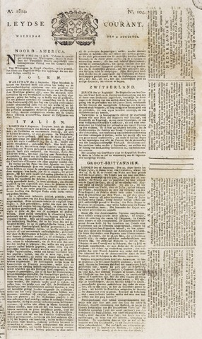 Leydse Courant 1814-08-31