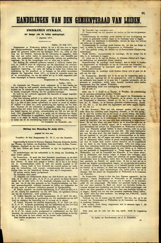 Handelingen van de Raad 1871-08-01
