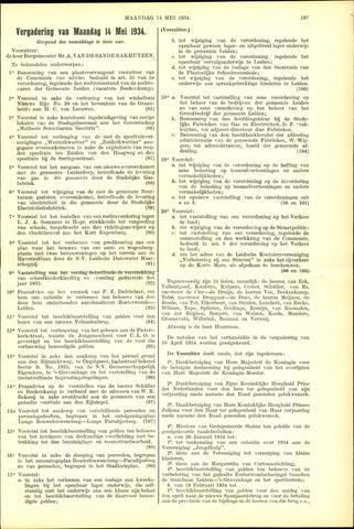 Handelingen van de Raad 1934-05-14