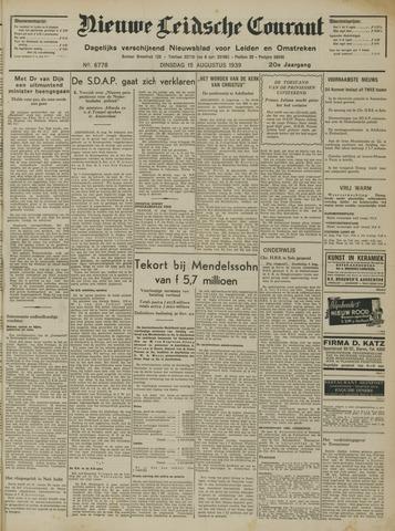 Nieuwe Leidsche Courant 1939-08-15
